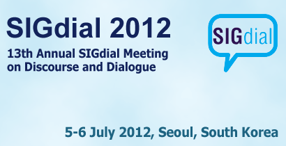 SIGdial 2012 - 13th Annual SIGdial Meeting on Discourse and Dialogue