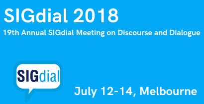 SIGdial 2018 - 19th Annual SIGdial Meeting on Discourse and Dialogue